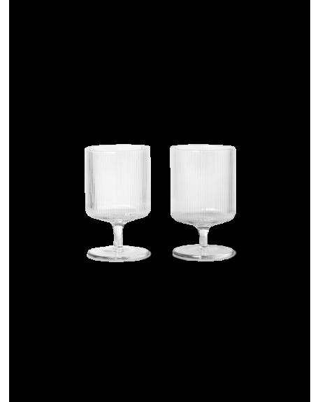FERM LIVING - Ripple Wine Glasses - Set of 2