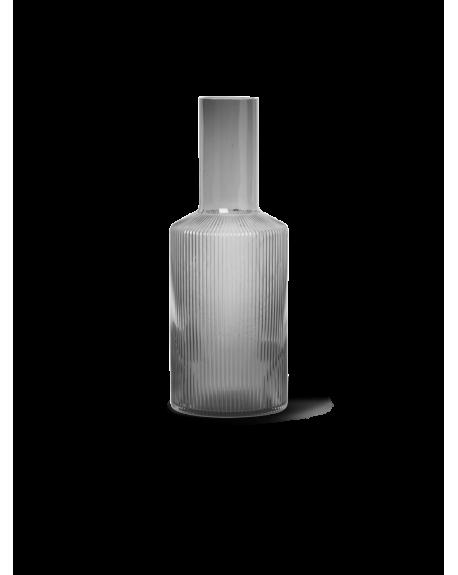 FERM LIVING - Ripple Carafe - Smoked Grey