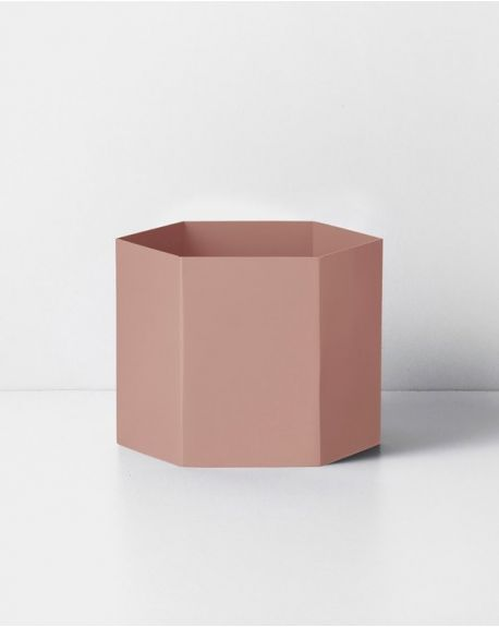 FERM LIVING - Hexagon Pot - Extra Large - Rose