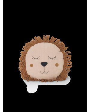 Ferm LIVING - Safari Cushion - Lion - Rose