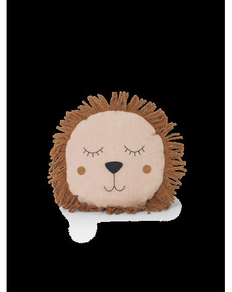 FERM LIVING - Coussin Safari Lion - Rose