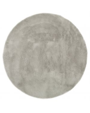 PILEPOIL - ROUND RUG IN FAKE FUR - Light grey Circle