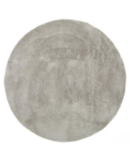 PILEPOIL - ROUND RUG IN FAKE FUR - Light grey Circle