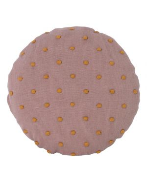 FERM LIVING - Coussin rond Popcorn - Rose