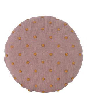 Ferm LIVING - Popcorn Round Cushion - Dusty Rose