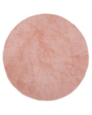 PILEPOIL - ROUND RUG IN FAKE FUR - Powder Pink Circle