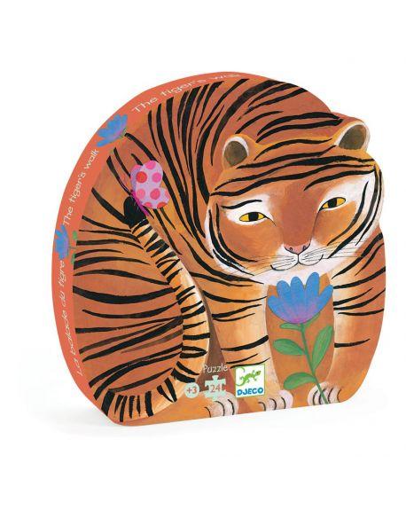 DJECO - PUZZLE SILHOUETTE - La ballade du tigre 24 pcs