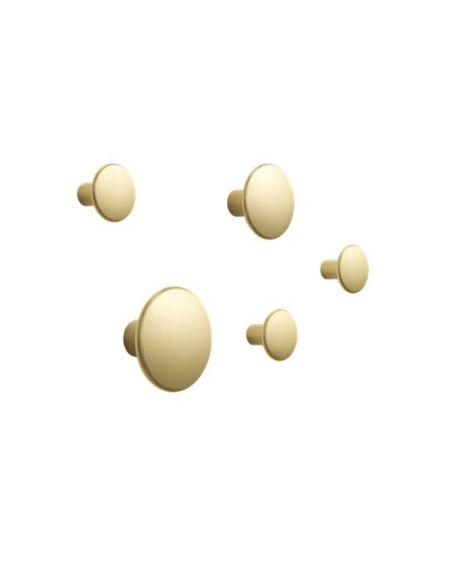 MUUTO - Set of 5 dots metal - Brass