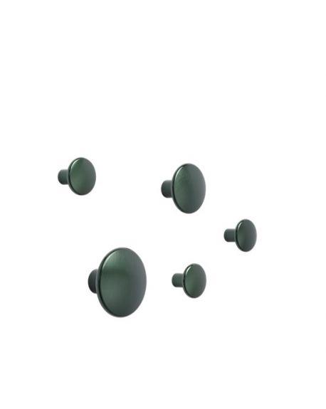 MUUTO - Set of 5 dots metal - Dark Green