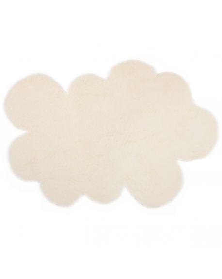 PILEPOIL - Tapis nuage en fausse fourrure - Crème - 2 dimensions au choix
