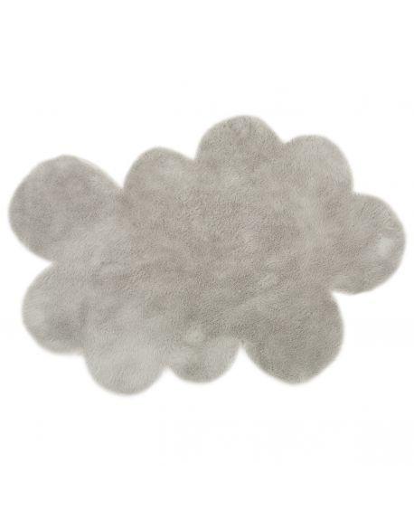 PILEPOIL - Tapis nuage en fausse fourrure - Gris clair - 2 dimensions au choix