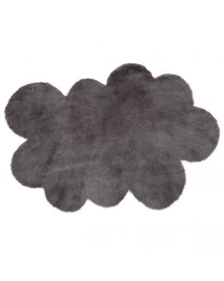 PILEPOIL - Tapis nuage en fausse fourrure - Gris foncé - 2 dimensions au choix