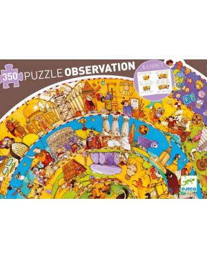 DJECO - PUZZLE OBSERVATION - Histoire + livret - 350 pcs
