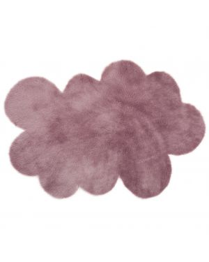 PILEPOIL - CLOUD RUG IN FAKE FUR - Grey purple Circle / 2 sizes