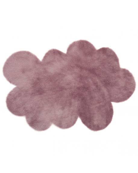 PILEPOIL - CLOUD RUG IN FAKE FUR - Grey purple / 2 sizes