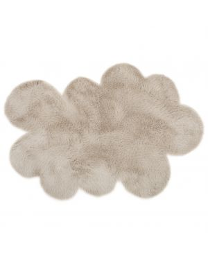 PILEPOIL - CLOUD RUG IN FAKE FUR - Middle Grey Circle / 2 sizes
