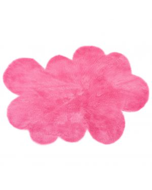 PILEPOIL - CLOUD RUG IN FAKE FUR - Pink Circle / 2 sizes