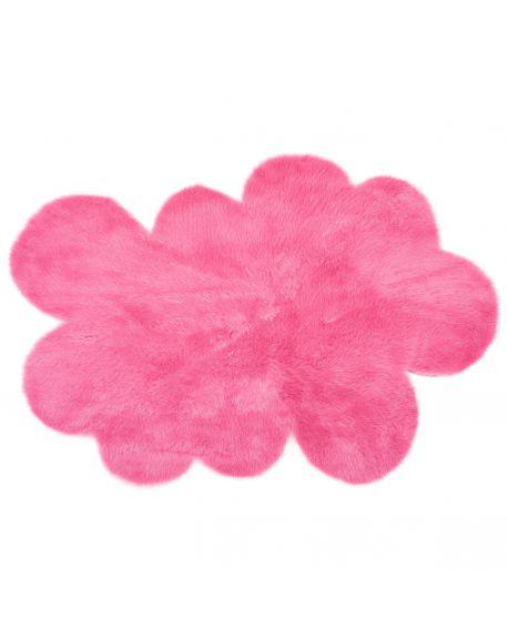 PILEPOIL - CLOUD RUG IN FAKE FUR - Pink Circle / 2 sizes