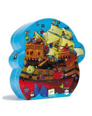 DJECO - PUZZLE SILHOUETTE - Barberousse boat - 54 pcs