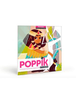Poppik - Puzzles Stickers Princesses - Pack de 3