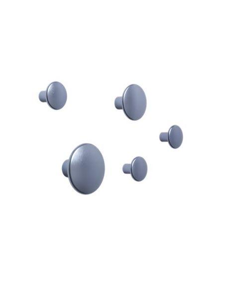 MUUTO - Set of 5 dots metal - Pale Blue