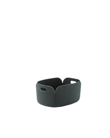 MUUTO RESTORE - Storage Basket - Dark Green