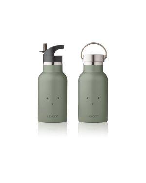 Liewood - Gourde à eau en acier Anker - Lapin Vert Kaki