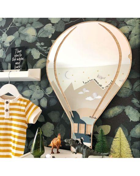 MaseLiving - Grand Miroir Montgolfière - Noyer