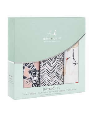 ADEN & ANAIS - Maxi Langes Swaddles - Pacific Paradise - Lot de 3