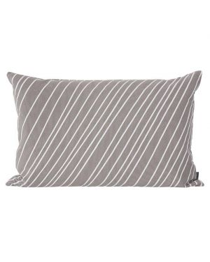 FERM LIVING - Striped Cushion - Grey