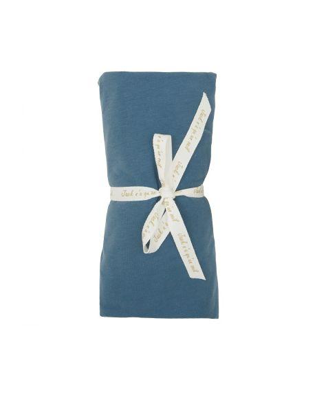 JACK N'A QU'UN OEIL - Fitted sheet ZIRKUSS - 70x140 cm - Blue Jeans