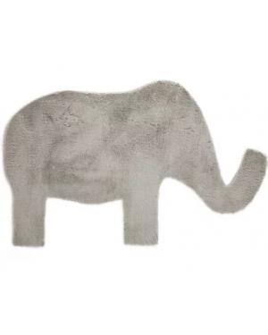 PILEPOIL - ELEPHANT RUG IN FAKE FUR - Light grey