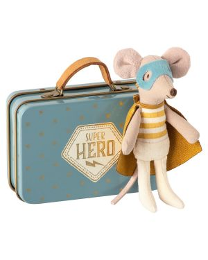 MAILEG - Mouse Guardian hero in suitcase