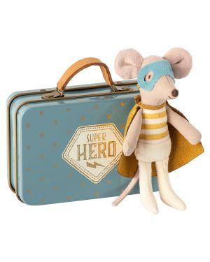 MAILEG - Souris Héro dans sa valise