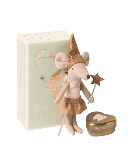MAILEG - Mouse - Tooth fairy in a box - Girl