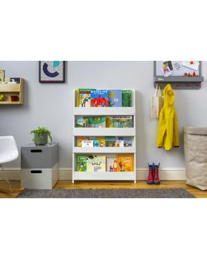 Tidy Books - Bibliothèques fonctionnelle en bois - Multi-compartiments - Blanc