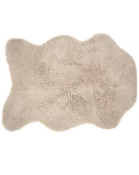 PILEPOIL - Tapis effet peau en fausse fourrure - Gris clair
