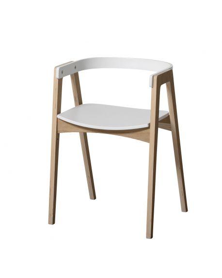Oliver Furniture - Chaise ajustable Wood - Blanc/Chêne
