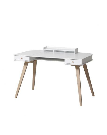 Oliver Furniture - Adjustable Wood Desk 66 cm - White/Oak