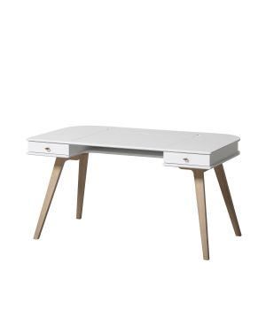 Oliver Furniture - Adjustable Wood Desk 72,6 cm - White/Oak
