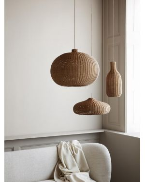 FERM LIVING - Suspension bouteille en rotin