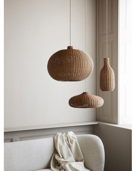 Ferm LIVING - Braided Bottle Lamp Shade - Natural