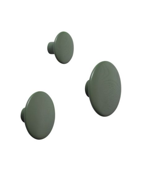 MUUTO - THE DOTS - Patère X Small - Dusty Green