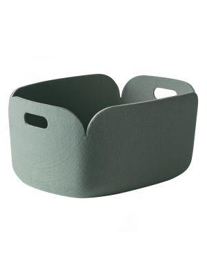 MUUTO RESTORE - Storage Basket - Dusty green