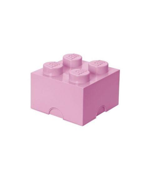 LEGO - BOITE DE RANGEMENT - 4 plots - Rose claire