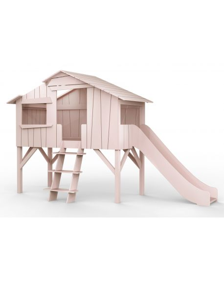 MATHY BY BOLS - Tree House bed & slide - MDF & Pin - Lacquer (27 colors)