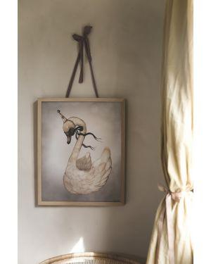 "MRS MIGHETTO - ""Dear Swan"" Art Print - FAIRGROUND FRIENDS - 40 x 50 cm"