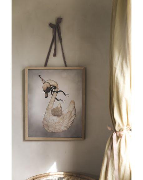 """MRS. MIGHETTO - Affiche """"Dear Swan"""" - édition limitée FAIRGROUND FRIENDS - 40 x 50 cm"""