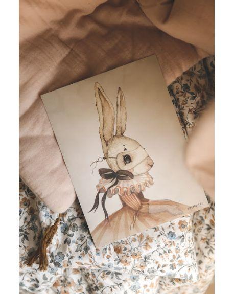 """MRS. MIGHETTO - Affiche """"Miss iris"""" - édition limitée - FAIRGROUND FRIENDS - 18 x 24 cm"""