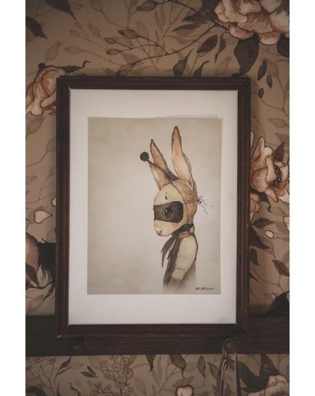"""MRS. MIGHETTO - Affiche """"Mr Sixten"""" - édition limitée FAIRGROUND FRIENDS - 18 x 24 cm"""